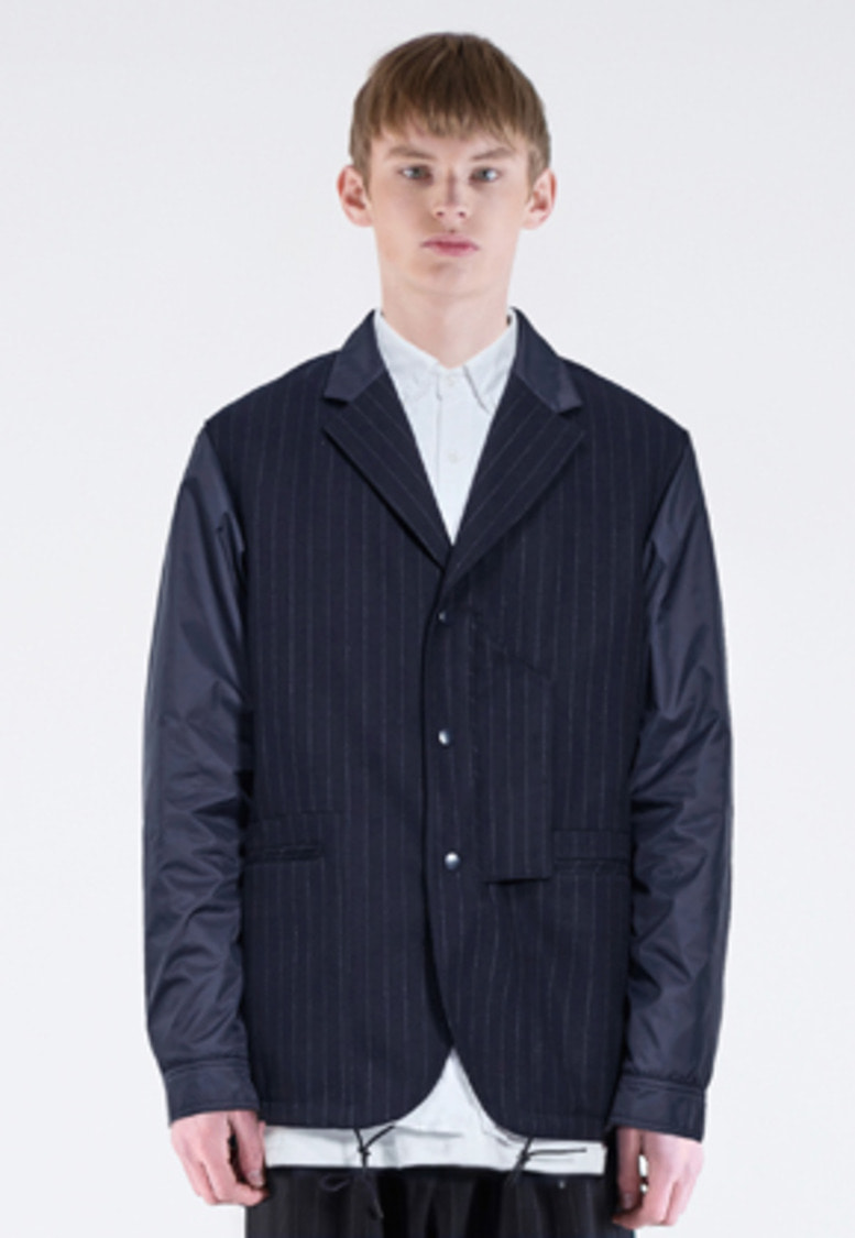 FROMMARK프롬마크 MIXED COACH BLAZER JACKET(STRIPE) NAVY