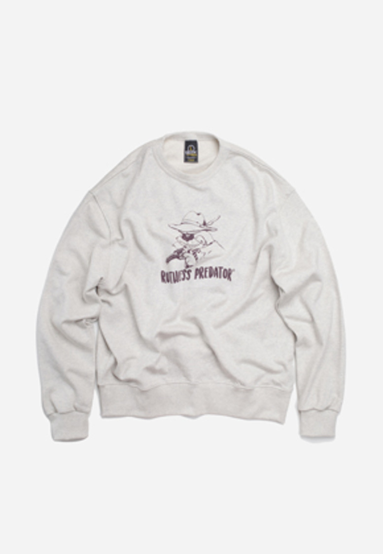FRIZMWORKS프리즘웍스 Ruthless predator sweat shirt _ oatmeal