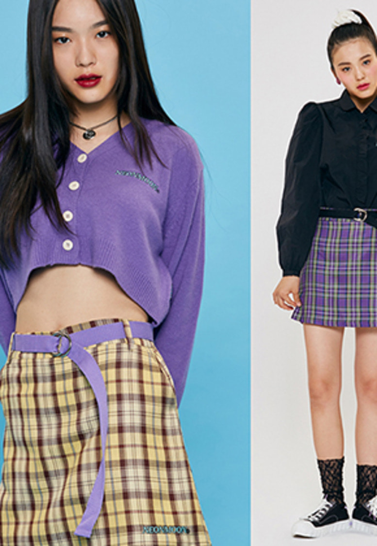 NEONMOON네온문 LONG BELT SKIRT (벨트 증정)