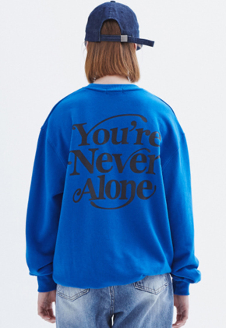 MMGL미니멀가먼츠랩 YNA semi-oversized sweatshirt (Blue)