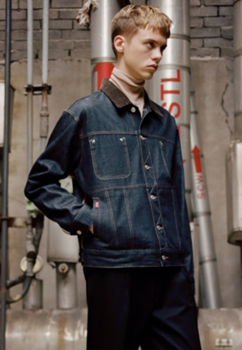 Anderssonbell앤더슨벨 UNISEX INSIDE OUT DENIM JACKET awa154u(Indigo)