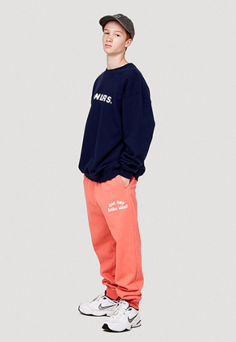 WKNDRS위캔더스 IDEA SWEAT PANTS (CORAL)