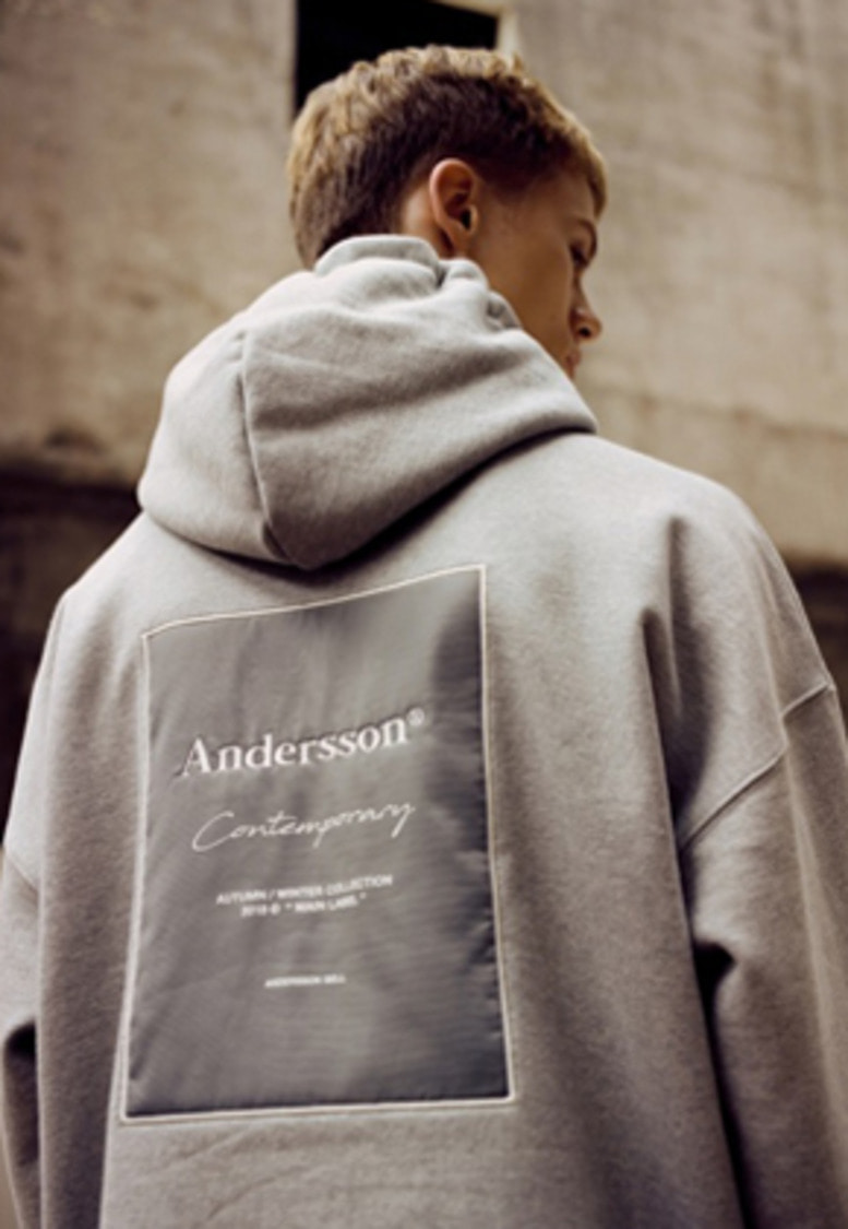 Anderssonbell앤더슨벨 UNISEX ANDERSSON SIGNATURE PATCH HOODIE atb230u(Gray)