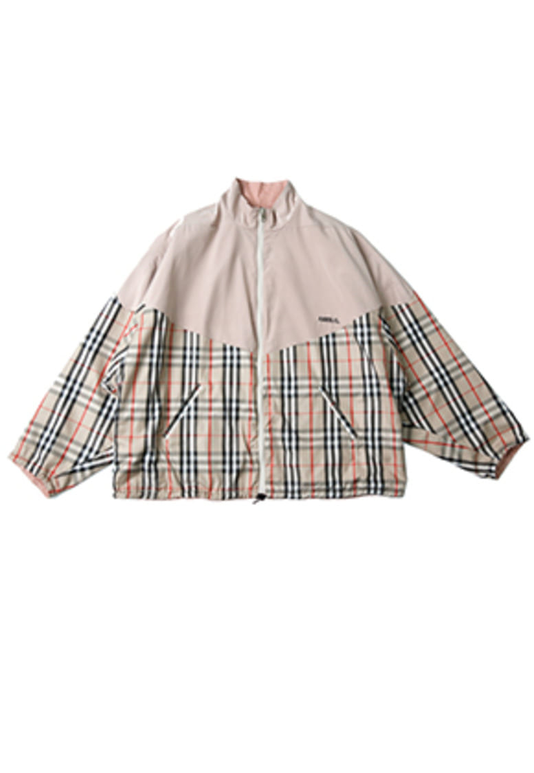 AJO BY AJO아조바이아조 [9/27 예약판매] Reversible Check Jumper (Beige)