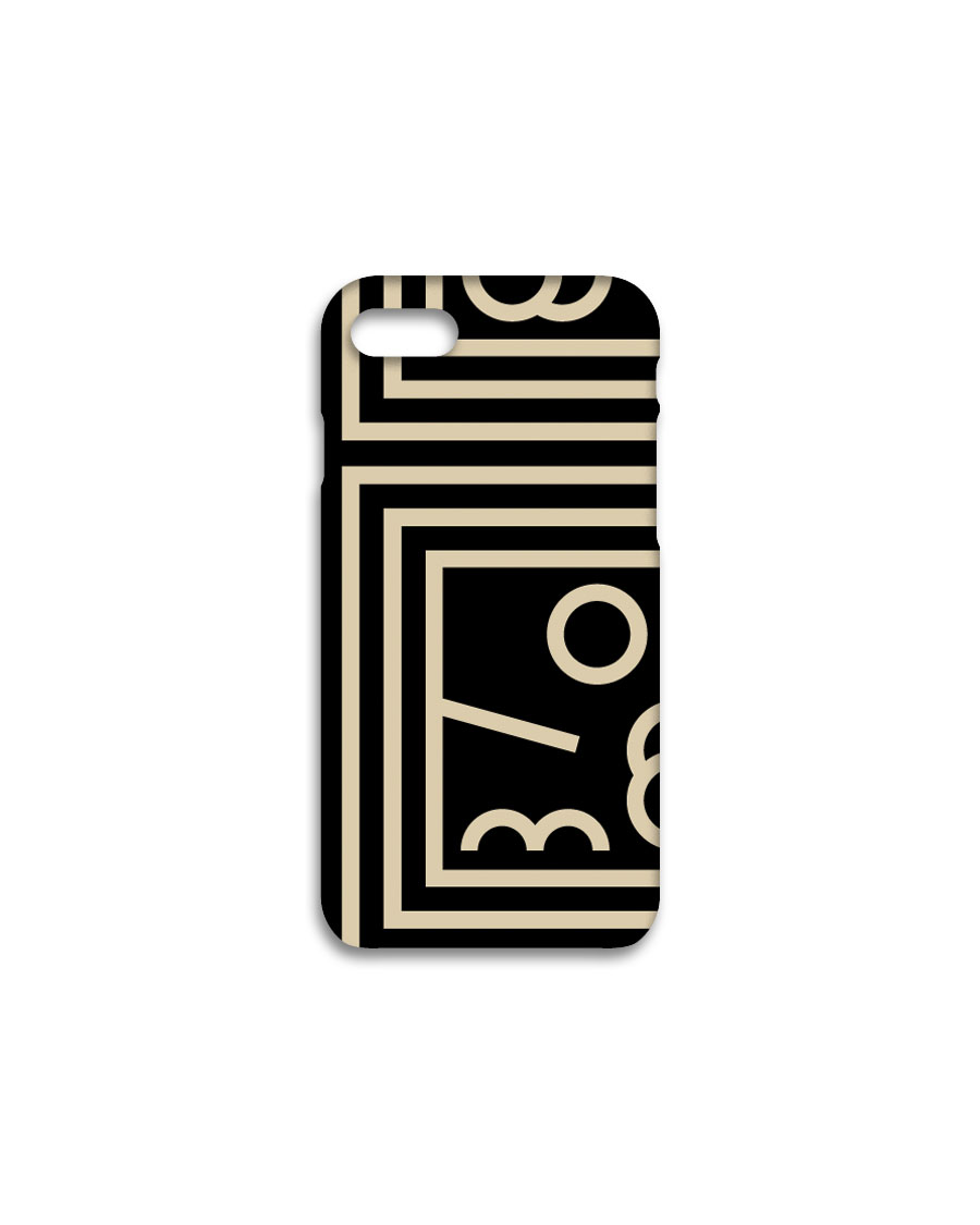 THREE TO EIGHTY쓰리투에이티 Harmony Classic iPhone case - Black