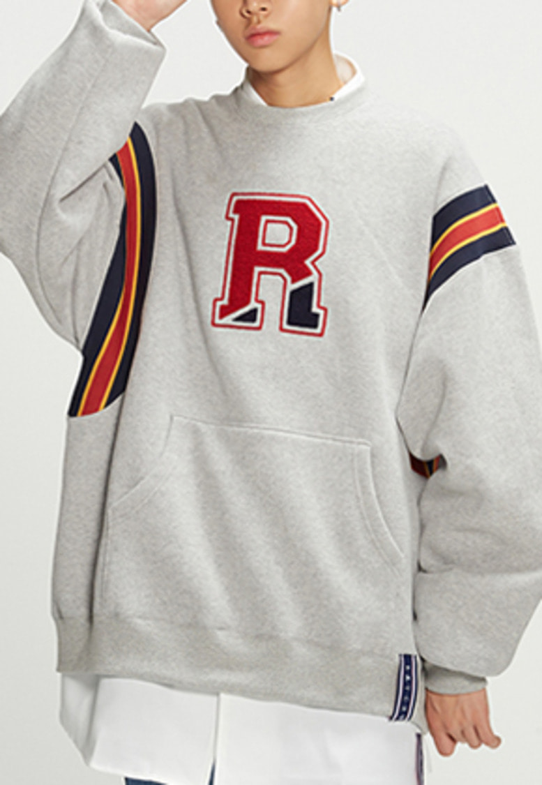 Romantic Crown로맨틱크라운 Big Logo Sweatshirt_Grey