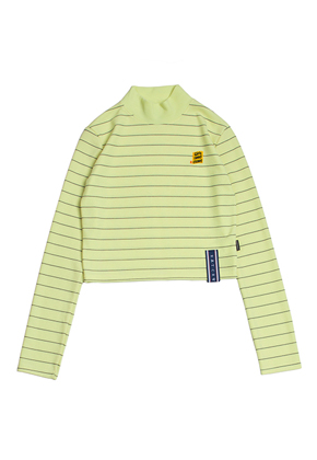 Romantic Crown로맨틱크라운 Stripe Knit Turtleneck_Butter
