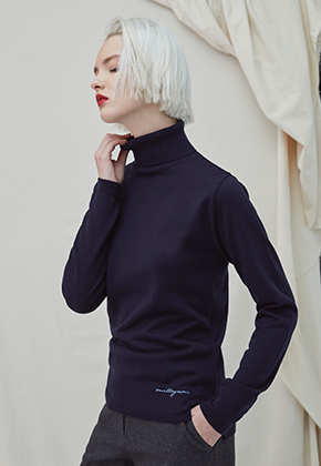 Millogrem밀로그램 Embo Turtleneck - navy