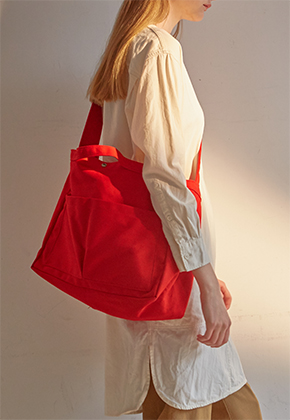 Muimono무이모노 CANVAS MESSENGER BAG (3 COLORS)
