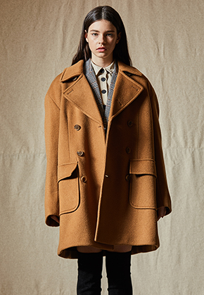 INDIGO CHILDREN인디고칠드런 OVERSIZED PEA COAT [CAMEL]
