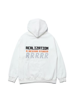Realization리얼라이제이션 RDS Reflective 'R' Logo Hoodie [IVORY]