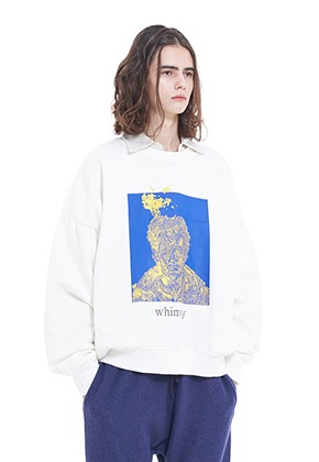 Vuiel뷔엘 WHIMSY_SWEATSHIRT - WHITE