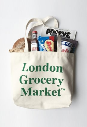 London Grocery Market런던그로서리마켓 (당일발송) Cotton Market Bag