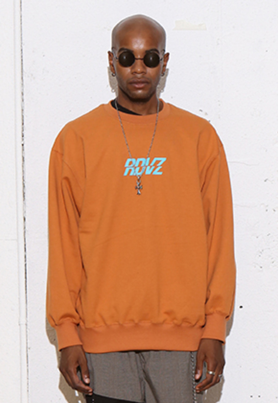 RDVZ RDVZ SWEAT TOP BROWN