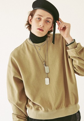Ooparts오파츠 OPT18FWTS01BE MA-1 cotton jersey sweatshirt
