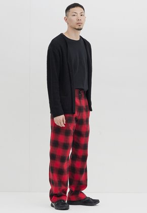 Gakuro가쿠로 Wide Pants (Red Ombre Check)