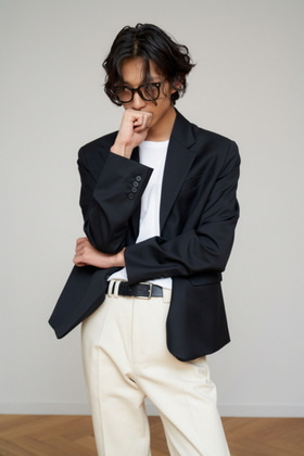 STU에스티유 2 BUTTON SINGLE BLAZER BLACK