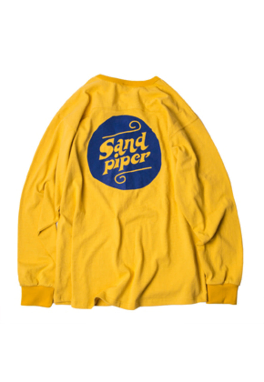 SANDPIPER샌드파이퍼 AUTHENTIC LOGO LS T SHIRTS YELLOW