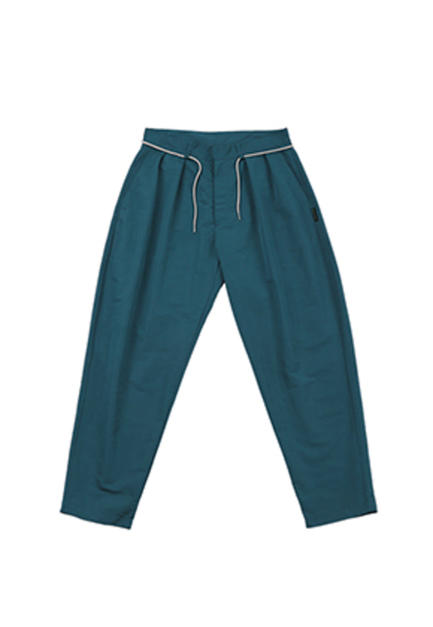 AJO BY AJO FINK LABEL Two Tuck Baggy Pants [Turquoise]