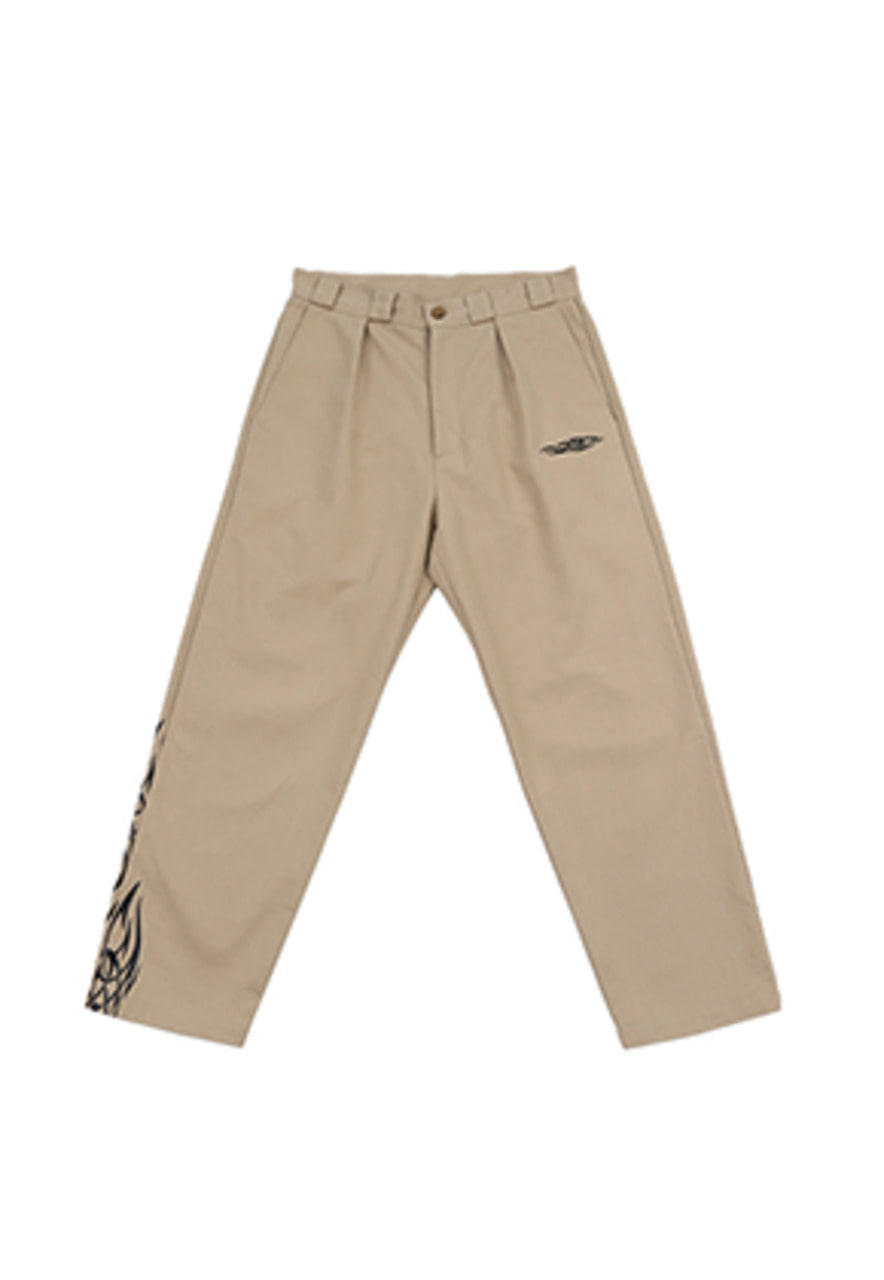 AJO BY AJO FINK LABEL Tapered Chino Pants Tribal [Beige]