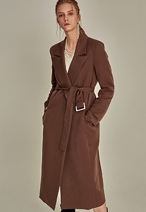 Yan13얀써틴 FOLD LONG COAT_BROWN
