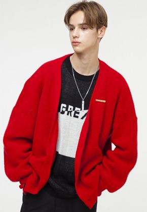 The Greatest더 그레이티스트 GT18FW05 PENDANT CARDIGAN RED