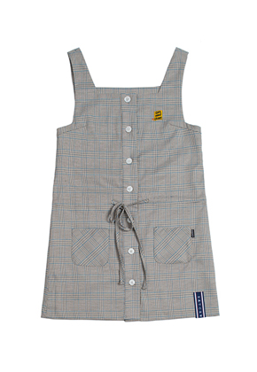 Romantic Crown로맨틱크라운 GNAC Glen Check Dress_Beige