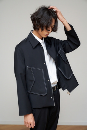 STU에스티유 STITCH JACKET BLACK