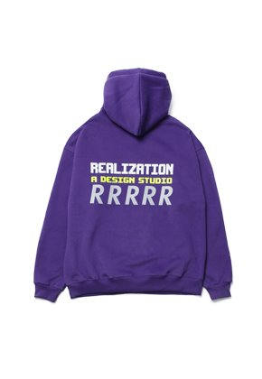 Realization리얼라이제이션 RDS Reflective 'R' Logo Hoodie [VIOLET]