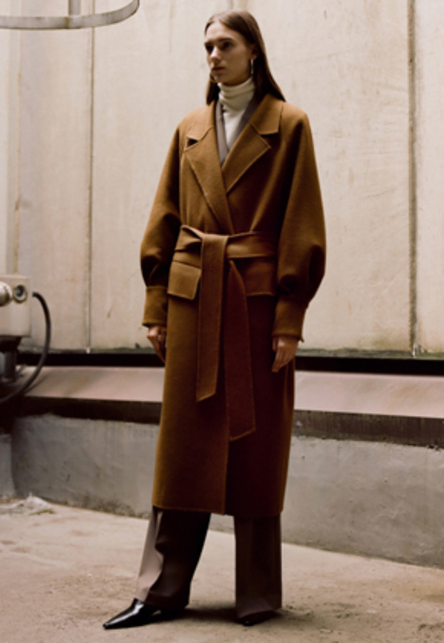 Anderssonbell앤더슨벨 ALANA HAND-MADE COAT awa171w(CAMEL BROWN)