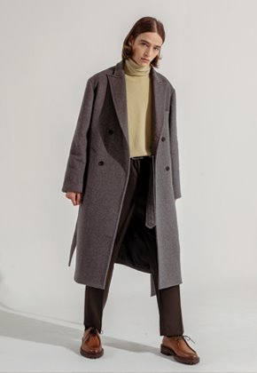 Noun노운 [noun]Double Breast Wool Coat (Charcoal)