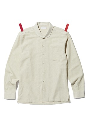 KIT키트 Napping shawl collar shirts (ivory)