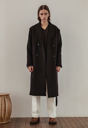 Noun노운 [noun]Double Breast Wool Coat (Black)