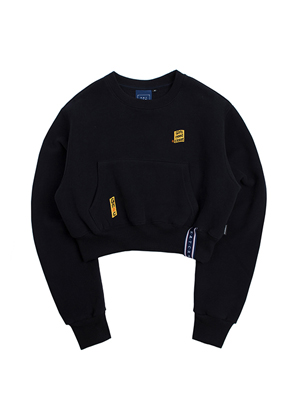 Romantic Crown로맨틱크라운 Pocket Crop Sweat Shirt_Navy
