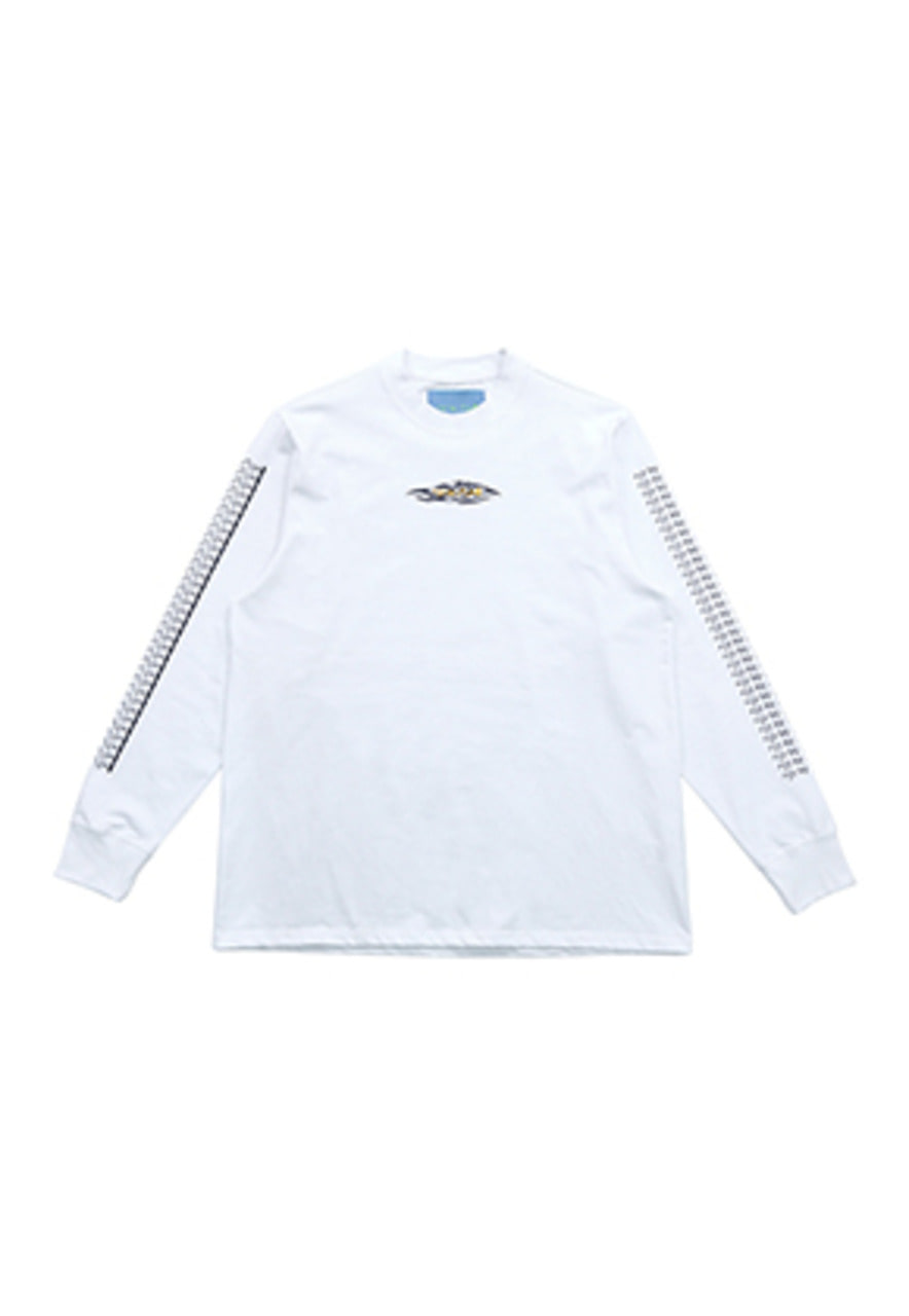 AJO BY AJO FINK LABEL Tribal Long Sleeve T-Shirt [White]
