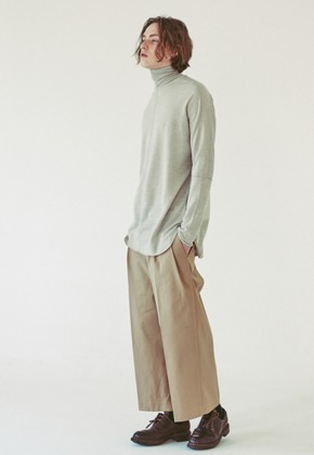 Ooparts오파츠 OPT18FWPT02KH Two Pleat Wide-leg Pants