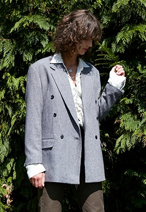 Vuiel뷔엘 DOUBE_BREASTED_BLAZER - GREY