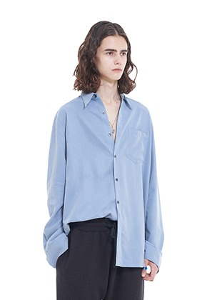 Vuiel뷔엘 LONG_SILKET_SHIRT - BLUE