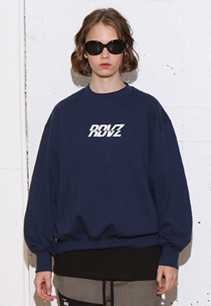 RDVZ RDVZ SWEAT TOP NAVY