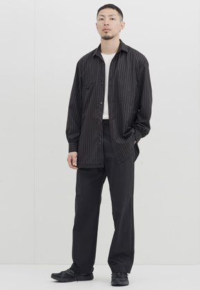 Gakuro가쿠로 Wide Pants (Black)
