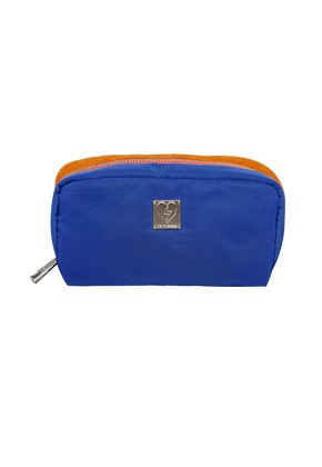 Heymisstata헤이미스타타 knit-padding pouch (blue/brown)