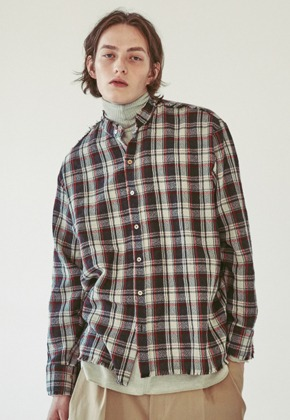 Ooparts오파츠 OPT18FWSH02CH Wool check shirt