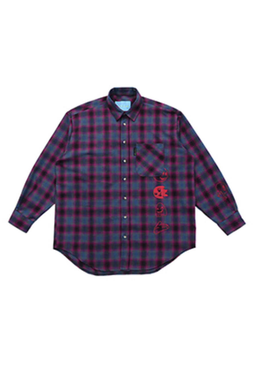AJO BY AJO FINK LABEL Grime Check Shirt [Magenta]