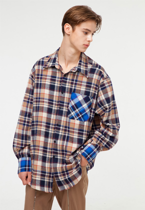 The Greatest더 그레이티스트 GT18FW02 CHECK SHIRT