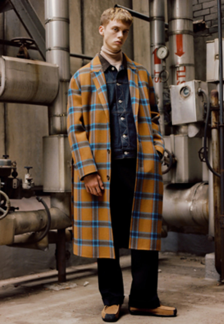 Anderssonbell앤더슨벨 MIKAS HANDMADE WOOL COAT awa164m (CAMEL CHECK)