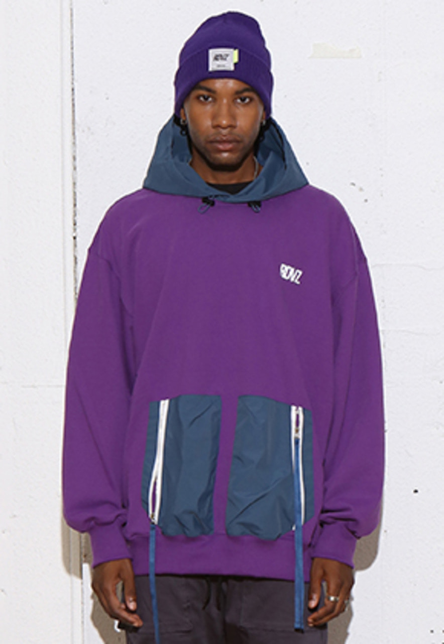 RDVZ DOUBLE POCKET HOODIE PURPLE