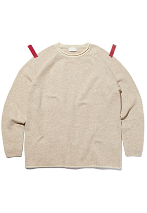 KIT키트 Point lip merino wool knit (ivory)