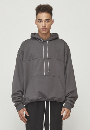 D.prique디프리크 [남주혁 착용] Oversized String Hoodie Charcoal