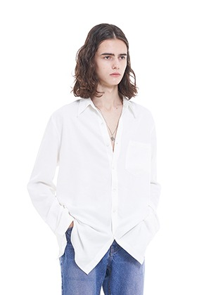 Vuiel뷔엘 LONG_SILKET_SHIRT - WHITE
