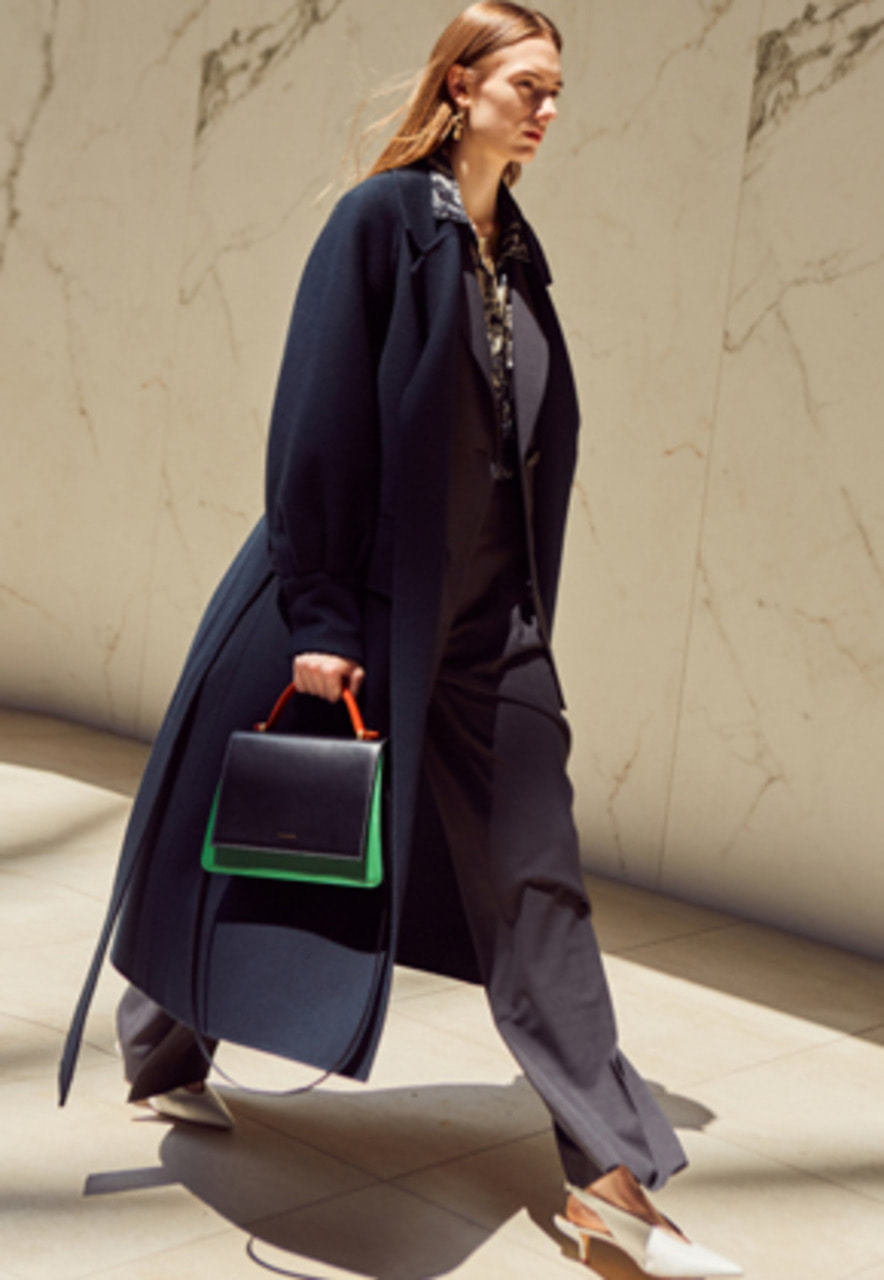 Anderssonbell앤더슨벨 ALANA HAND-MADE COAT awa171w(GREEN NAVY)